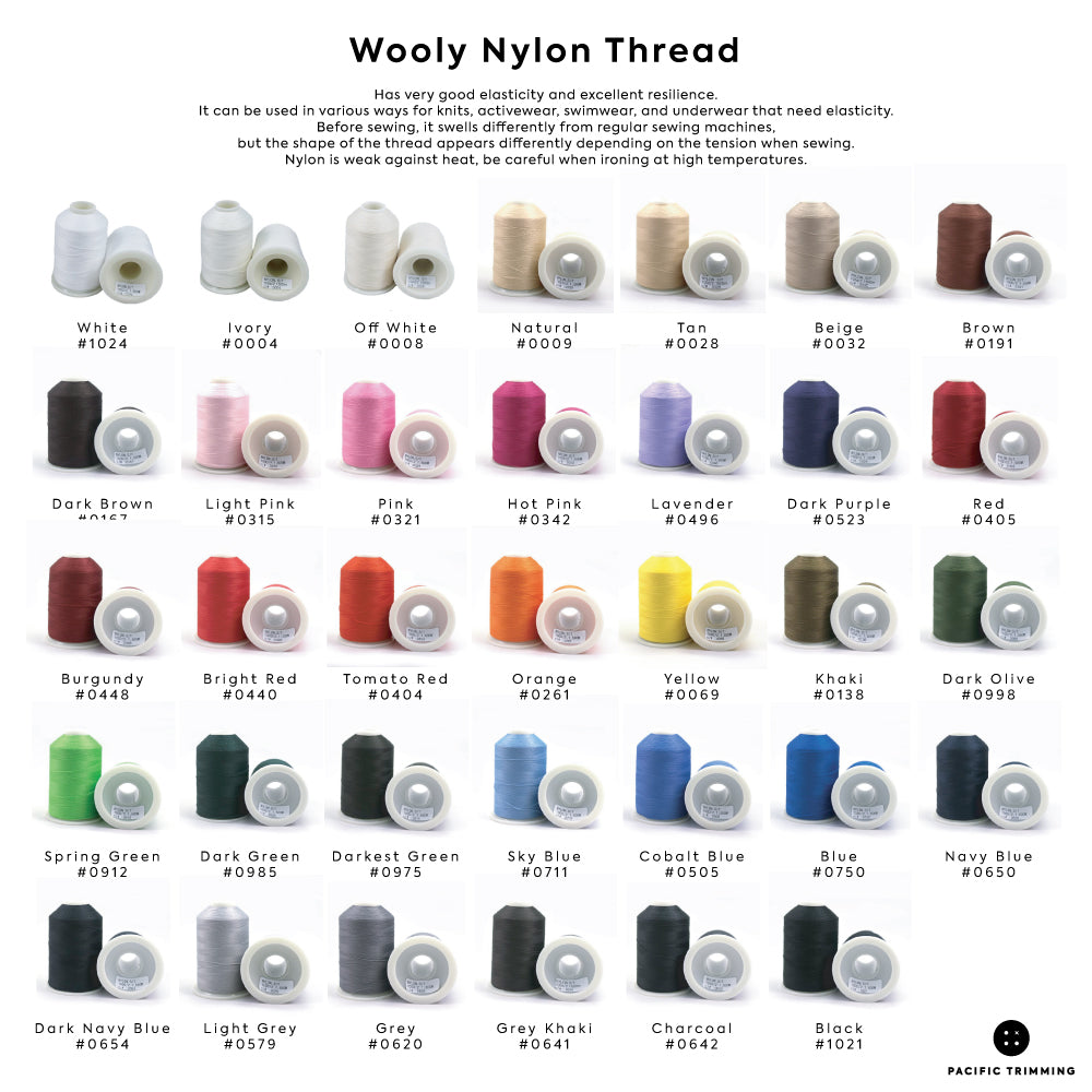 Wooly Nylon Thread Color Chart