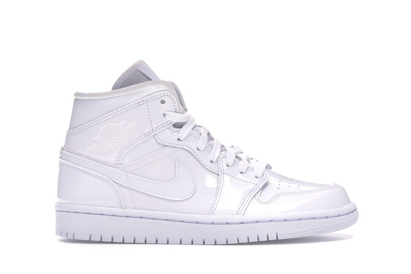 Jordan 1 Mid Triple White