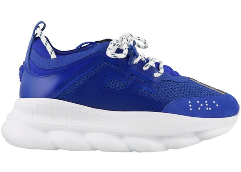 Versace Chain Reaction Blue Mesh Rubber Suede