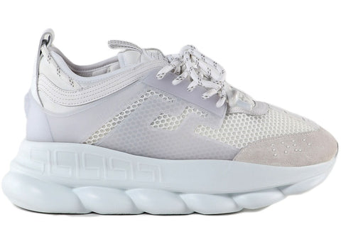 Versace Chain Reaction White Mesh Rubber Suede