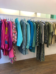 Selection of chic and vintage clothes in the @ boutiqueplaisirpalace upscale vintage boutique Paris 3 luxury thrift store