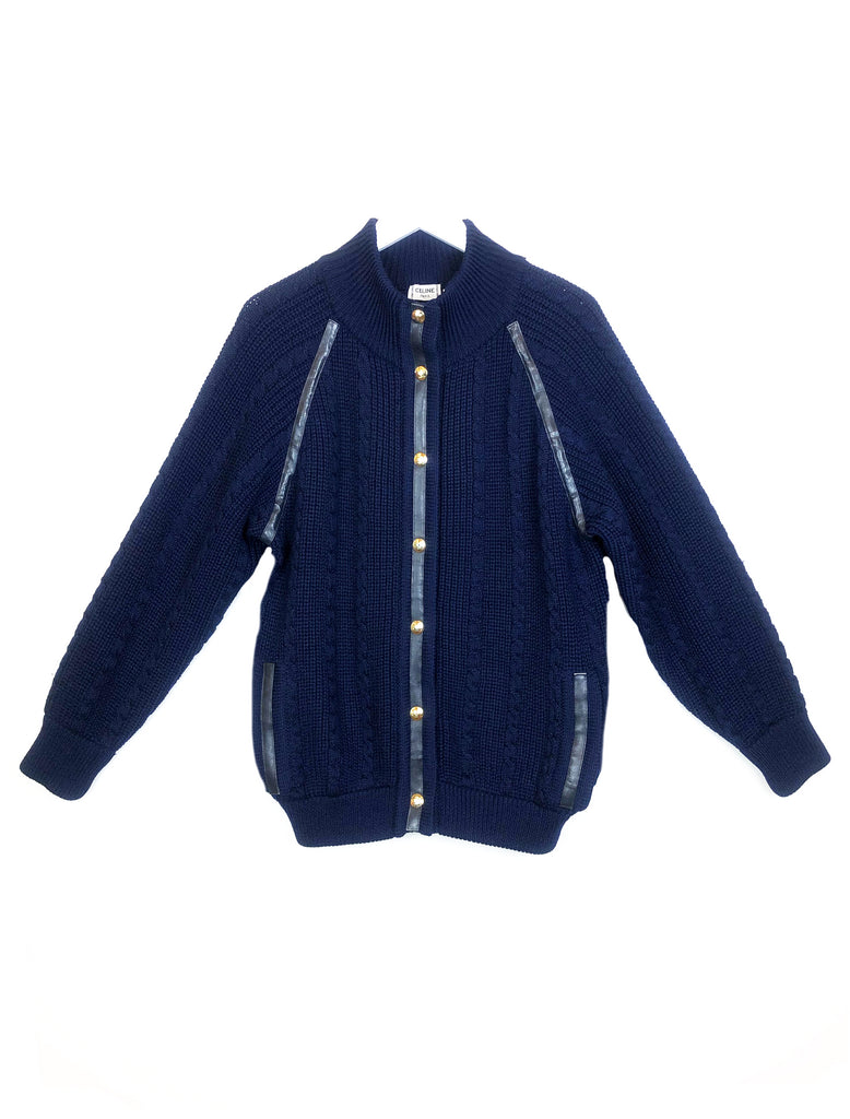 vintage celine cardigan wool cardigan plaisir palace the high-end vintage boutique Paris second-hand luxury second-hand second-hand clothing store