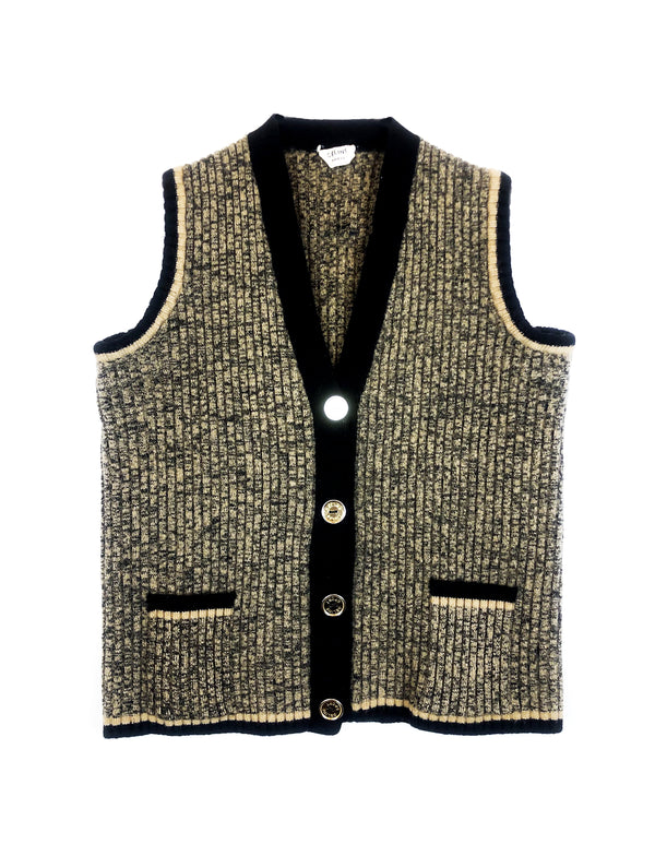vintage celine wool cardigan plaisir palace the high-end vintage boutique Paris second-hand luxury second-hand second-hand clothing store