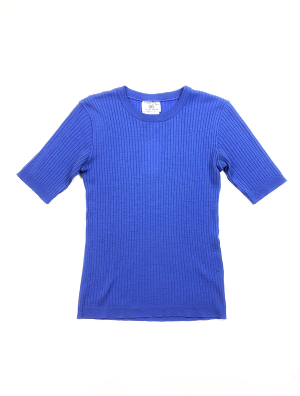 Top Courreges bleu Plaisir Palace vintage store paris friperie luxe boutique marais vintage plaisirpalace.fr