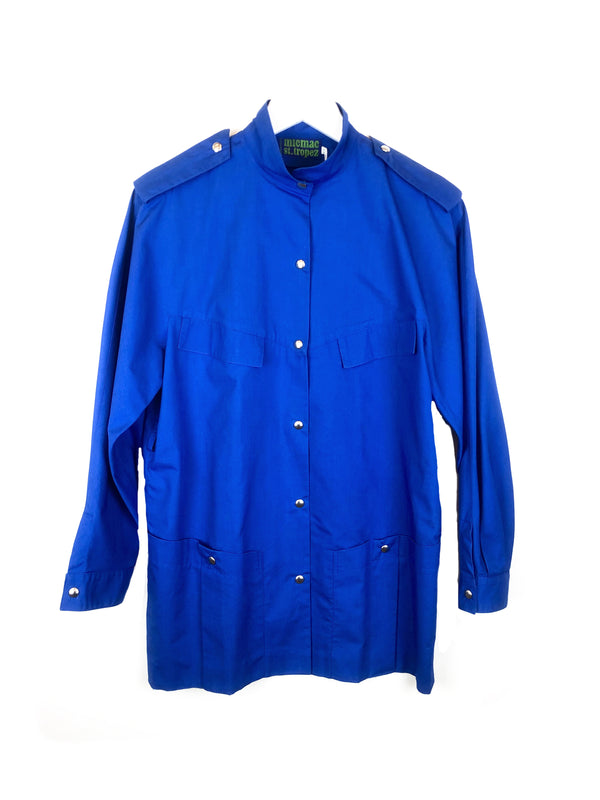 MICMAC ST TROPEZ vintage blue cotton jacket size 36 38 plaisir palace the high-end vintage boutique Paris 3 luxury second-hand second-hand second-hand clothing store