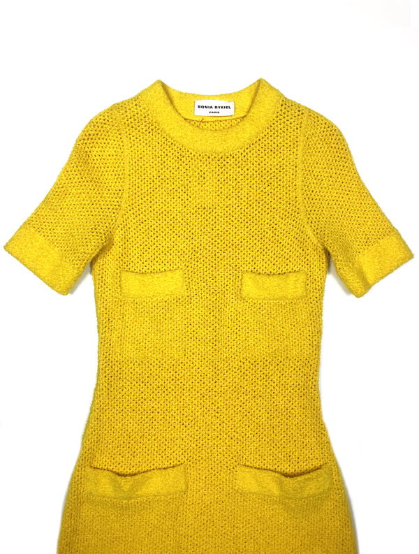 yellow knitted sonia rykiel dress plaisir palace the high-end vintage boutique Paris second-hand luxury second-hand second-hand clothing store