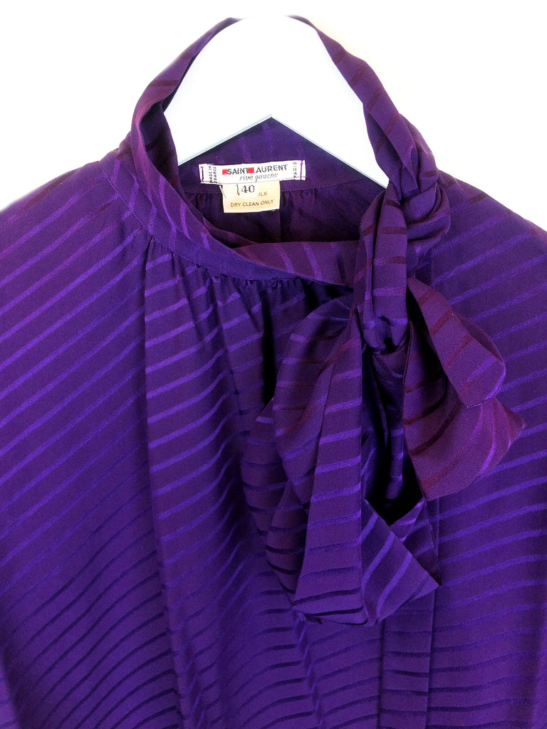 vintage ysl yves saint laurent silk silk blouse paris store