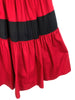 red skirt ysl saint laurent paris haute couture luxe vintage plaisir palace Marsh