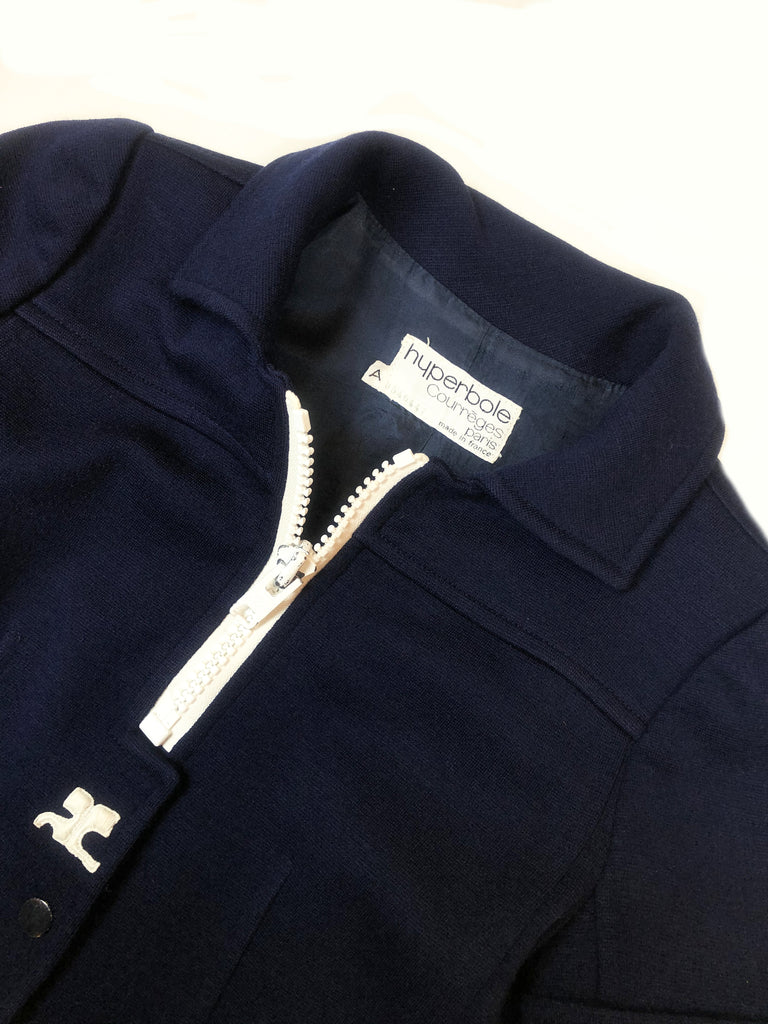 vintage courreges hyperbole blue wool jacket plaisir palace 3 rue paul dubois 75003 paris the best vintage store in paris