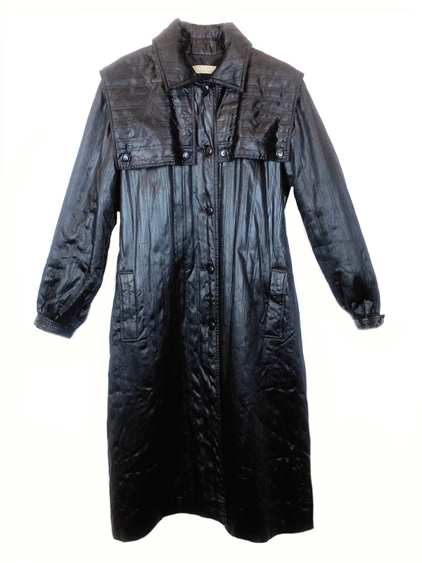 givenchy vintage long manteau matelassé noir plaisir palace paris