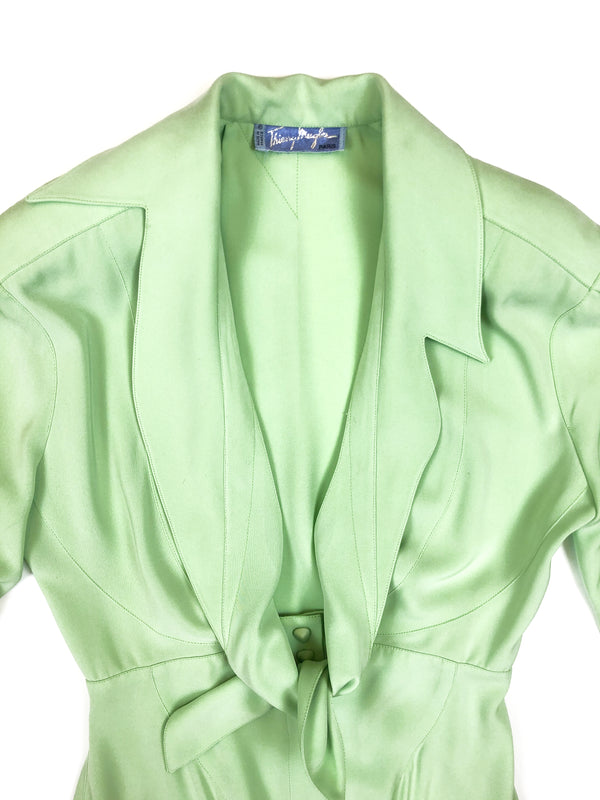 mugler vintage green dress plaisirpalace.fr