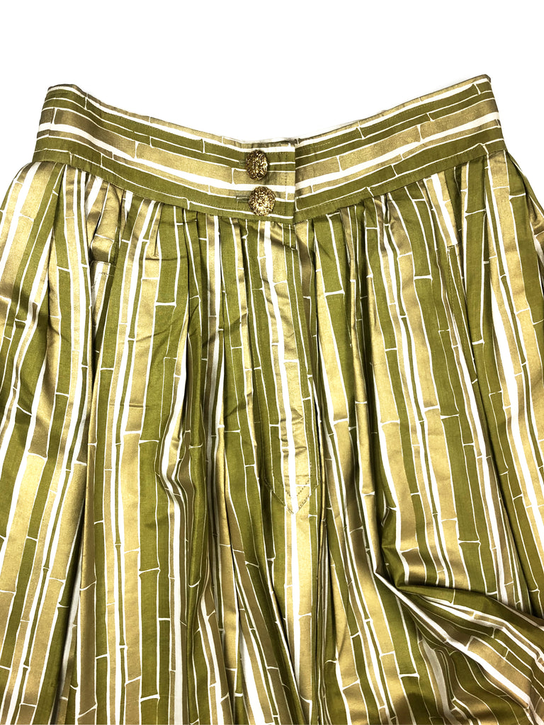 ysl saint laurent vintage silk skirt at Plaisir Palace store in Paris - boutique vintage 3 rue Paul Dubois 75003 Paris  - friperie luxe - seconde main haut de gamme
