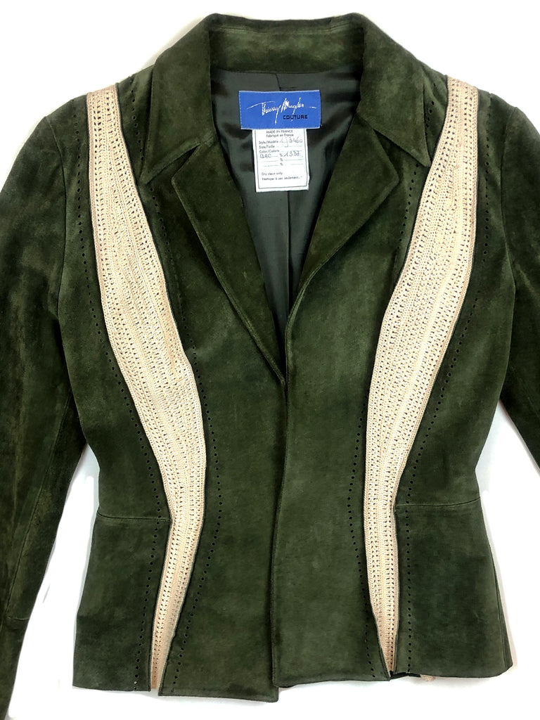 thierry mugler vintage leather jacket plaisir palace the high-end vintage boutique Paris second-hand luxury second-hand second-hand clothing store
