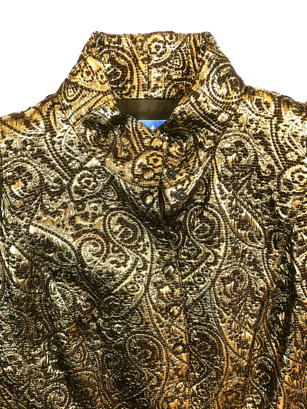 vintage thierry mugler golden jacket plaisir palace the high-end vintage boutique Paris second-hand luxury second-hand second-hand clothing store