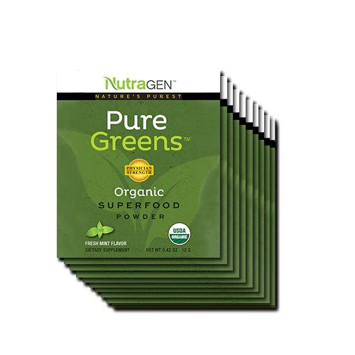 10 Pure Greens Travel Packs - Fresh Mint