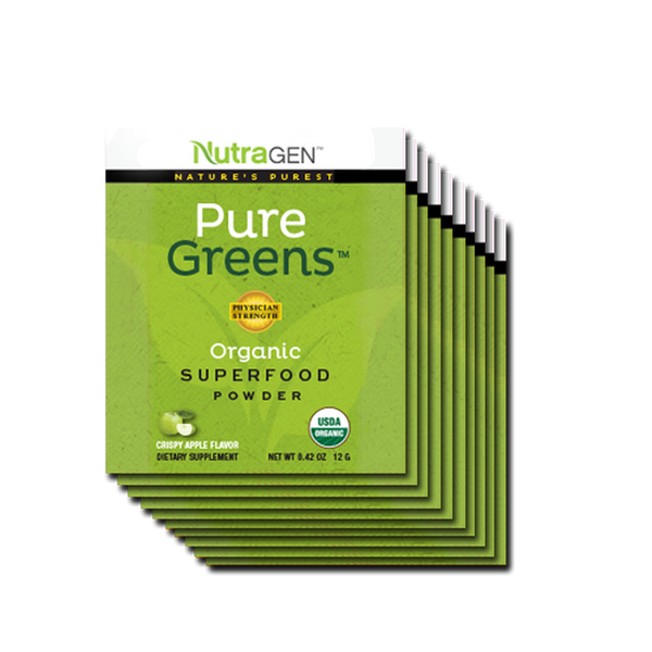 10 Pure Greens Travel Packs - Crispy Apple