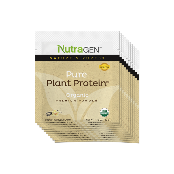 10 Pure Plant Protein Travel Packets - Vanilla