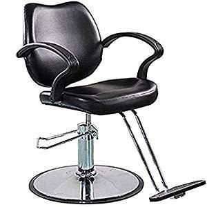 Styling Chair With Hydraulic Pump - Black - New Era Barber Supply