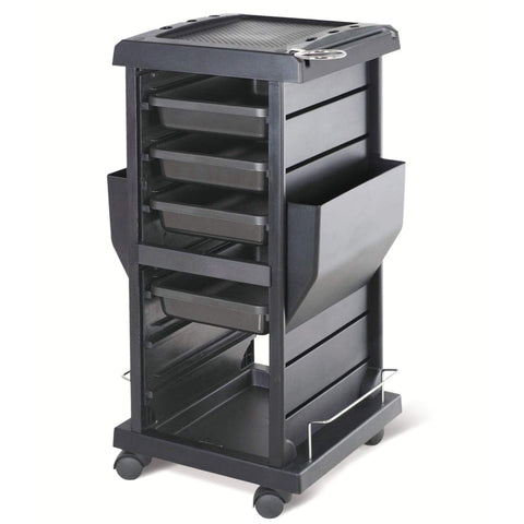 Rolling Salon Trolley - Black