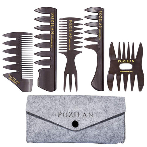 5 Pack of Hair Styling Combs - New Era Barber Supply