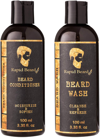 Beard Shampoo and Conditioner Wash & Growth Kit - 2 Pack - New Era Barber Supply