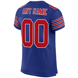 Custom Royal Red-White Mesh Authentic Football Jersey