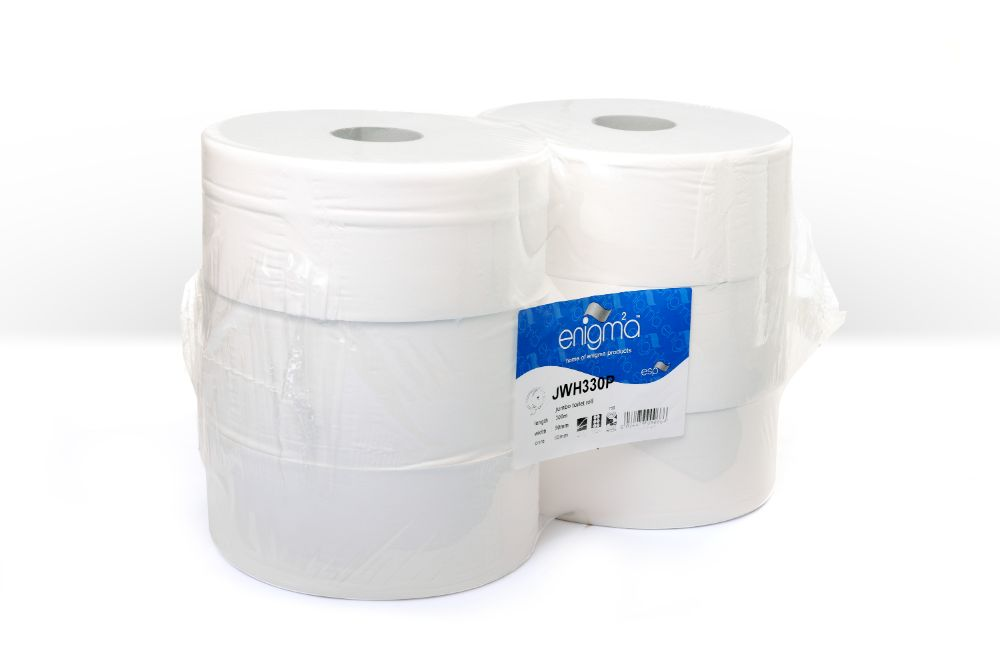 Jumbo toilet rolls 2 ply 300m x 90mm