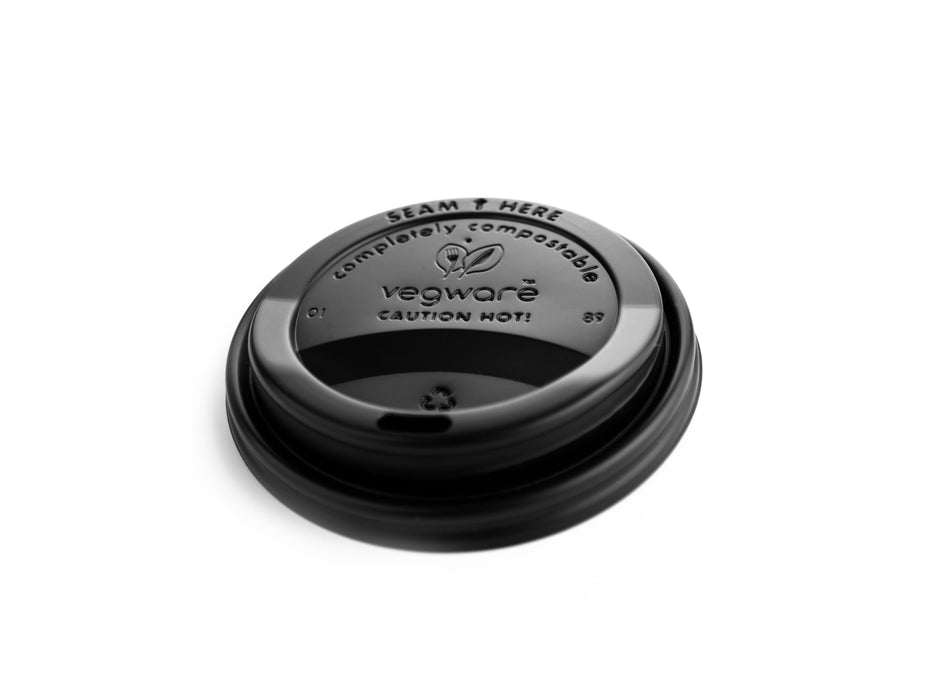 Black sip thru lids for double wall hot cup (89-series)