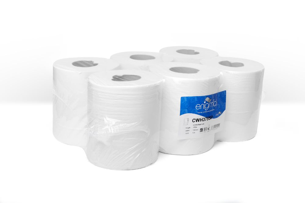 Centrefeed rolls white 2ply 150m x 190mm