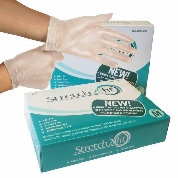 Stretch2fit gloves clear