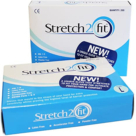 Stretch2fit gloves blue