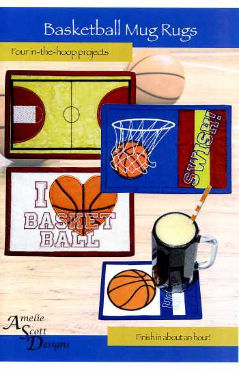 Basketball Mug Rugs: <br> In-the-Hoop Projects