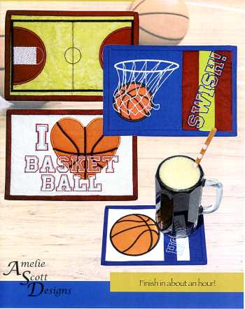 Basketball Mug Rugs