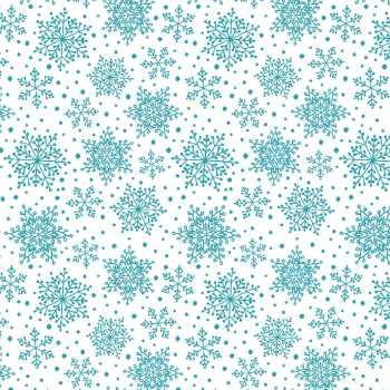 Snowflakes Turquoise - Hearty The Snowman