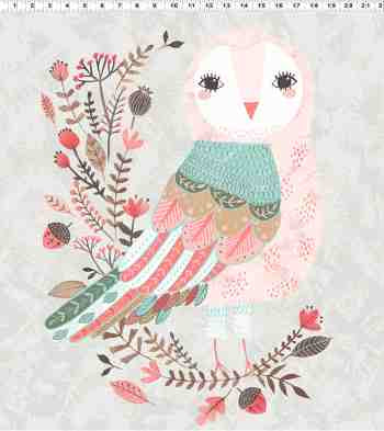 Colorful Forest Owl Panel - Forest Owl