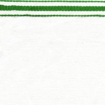 Green Stripes On White Toweling - Toweling