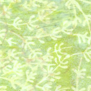 Pastel Green With Plant Design - Batik by Mirah