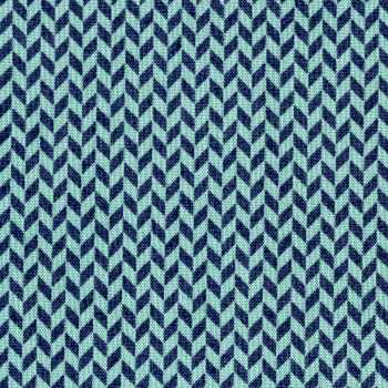 Harringbone Texture in Navy - Make Yourself At Home