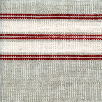White And Red Stripe On Tan Toweling - Toweling