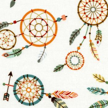 Colorful Dream Catchers on Cream Background - Camp-A-Long Critters