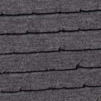 Grey Smooth Ruffle - Specialty Fabric