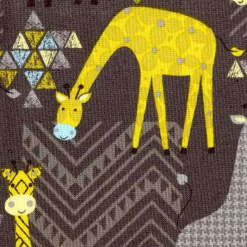 Patterned Giraffes on Gray - Stand Tall