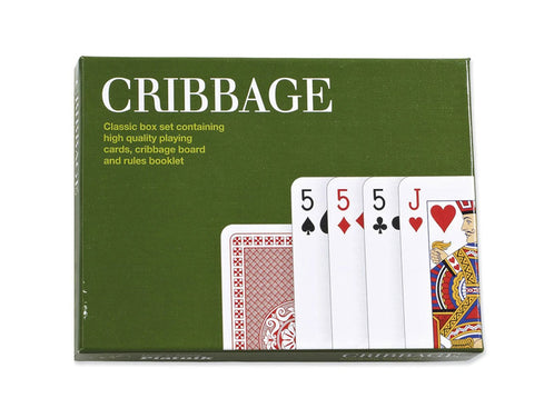 Cribbage Classic Green Playing Cards By Piatnik