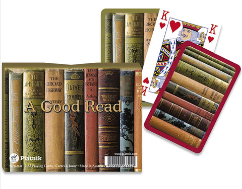 A Good Read Bridge Playing Cards By Piatnik