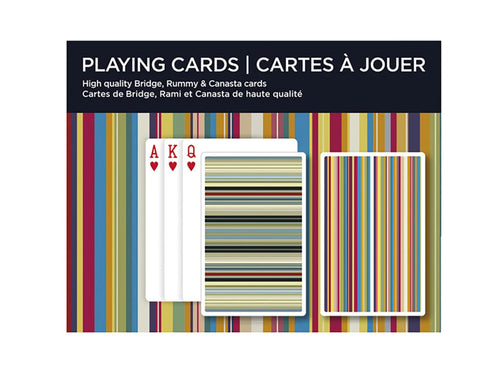 Stripes Bridge Playing Cards By Piatnik