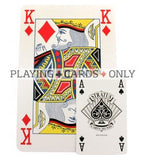 Stratus super sized giant A5 Playing Cards - Blue Backed