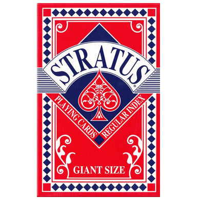 Stratus super sized giant A5 Playing Cards - Red Backed