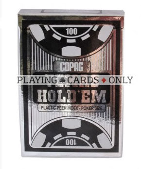 Copag Texas Hold'Em Poker Peek Index 100% Plastic Playing Cards-Black Backed