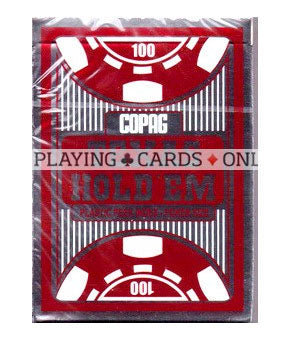 Copag Texas Hold'Em Poker Peek Index 100% Plastic Playing Cards-Red Backed