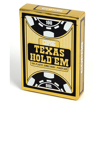 Copag Texas Hold'Em JUMBO Index 100% Plastic Playing Cards-Black Backed